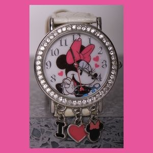Minnie Mouse w/Dangling Charms Watch